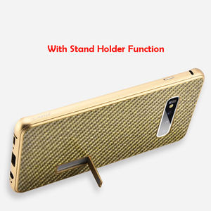 Image 4 - iMatch Real Carbon Fiber Aluminum Metal Case For Samsung Galaxy S10/ Plus Luxury Full Protection Back Cover For Samsung S10 Case