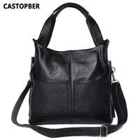European And American Style Women Handbag Fashion Big Simple Bag Ladies Handbags Designer High Quality Cowhide