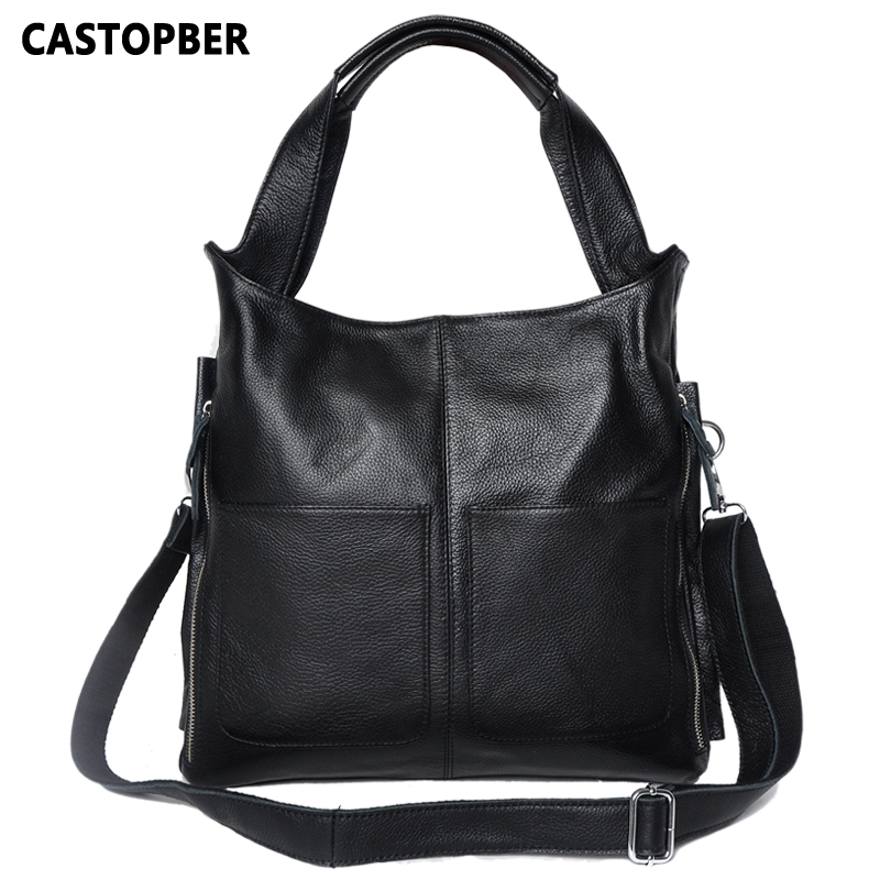 European And American Style Women Handbag Fashion Big Simple Bag Ladies Handbags Designer High Quality Cowhide