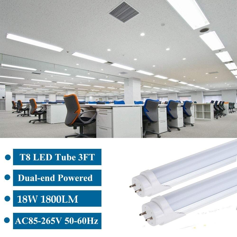 10PCS LED Tube T8 Light Lamp Integrated Wall Tube 18W 120CM 4ft 300mm T8 Led Lights SMD2835 Lighting Cold White AC85-265V