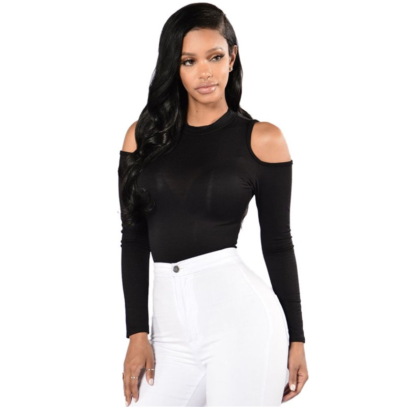 Black-Cold-Shoulder-Formfitting-Bodysuit-LC32096-2-19826
