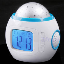 Sky Star Children Baby Room Night Light Projector Lamp Bedroom Music Alarm Clock G08 Great Value April 4