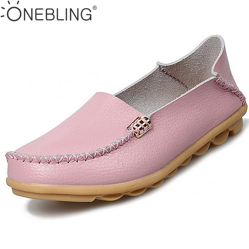 Summer Candy Colors Genuine Leather Women Casual Shoes 2017 Fashion Breathable Slip-on Peas Massage Flat Shoes Plus Size 35-44 genuine leather women shoes fashion lace up casual flat shoes peas non slip outdoor shoes plus size