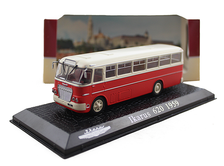 ФОТО Special Out of print 1:72 ATLAS IKARUS alloy bus model 620-1959 Original model Collection model