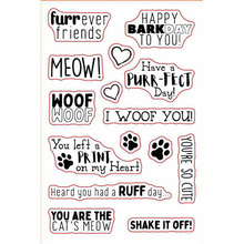 Furrever Friends Transparent Clear Silicone Stamps For DIY Scrapbooking Cards Making Craft Supplies New 2019 hugs sentiments transparent clear silicone stamps for diy scrapbooking cards making craft supplies new 2019