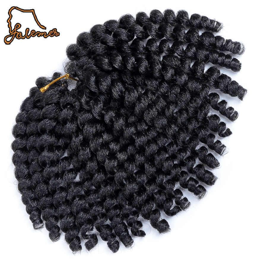 FALEMEI 80g 10 pulgadas 2X jamaiquino rebote Pelo Rizado trenzado extensiones de trenzas de ganchillo varita de trenzado de pelo 20 strands/pack
