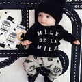 hot selling newborn clothing sets fashion long sleeve letter t-shirt and print pants for spring children's clothing sets