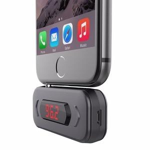 Image 5 - FM verici Doosl eller serbest arama kablosuz ses radyo verici adaptörü 3.5mm Jack iPhone IOS Android araba hoparlör