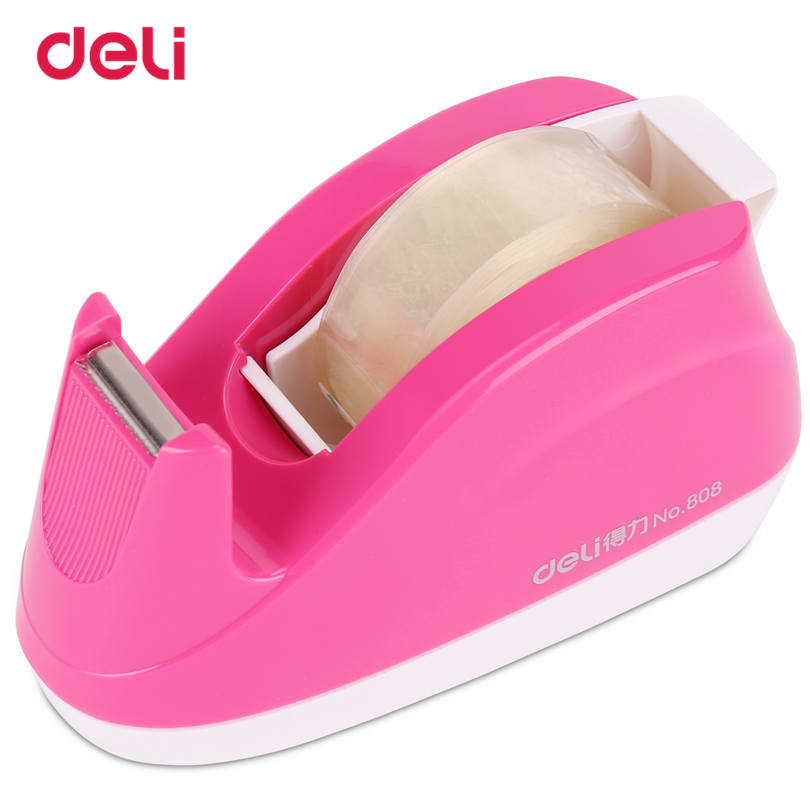 Deli Effective Tape Dispenser Adhesive Tape Cutter Sealing Machine Tape Cutter For Business Office Supplies Tape Size 18mm 40D80 waterproof seam sealing tape roll satellite self amalgamating rubber sealing tape sealing cable repair lead