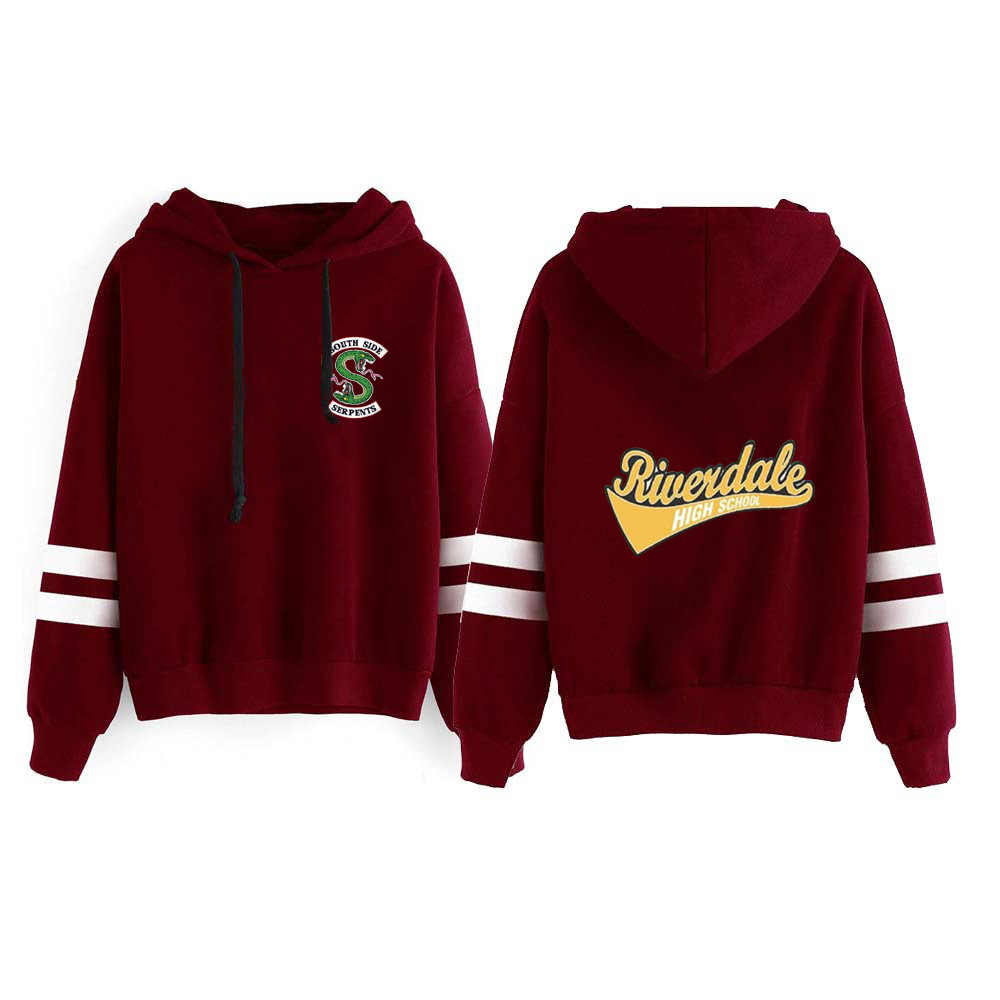 New Fashion American TV Riverdale Hoodie Sweatshirts South Side Serpents Harajuku Hooded Streetwear Pullovers Kawaii Clothes Top