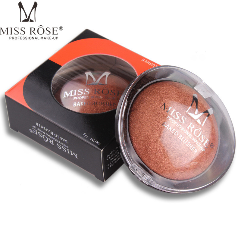 MISS ROSE Blush Bronze Women Beauty Face Palette Makeup Long Lasting Baked Powder Contouring Blusher Professional Maquiagem A14