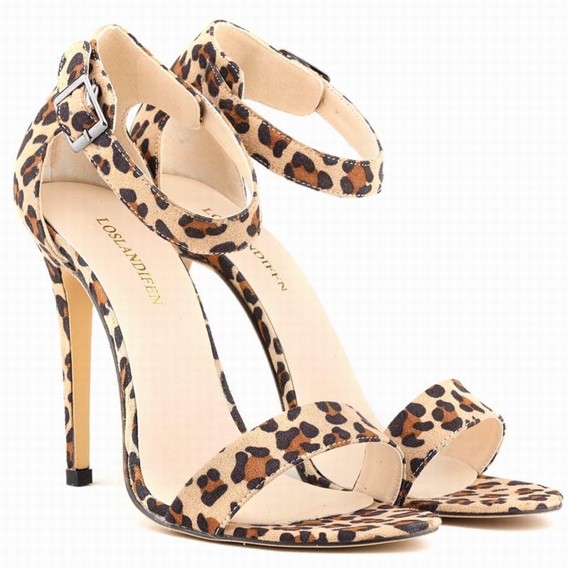 Leopard Strappy Heels