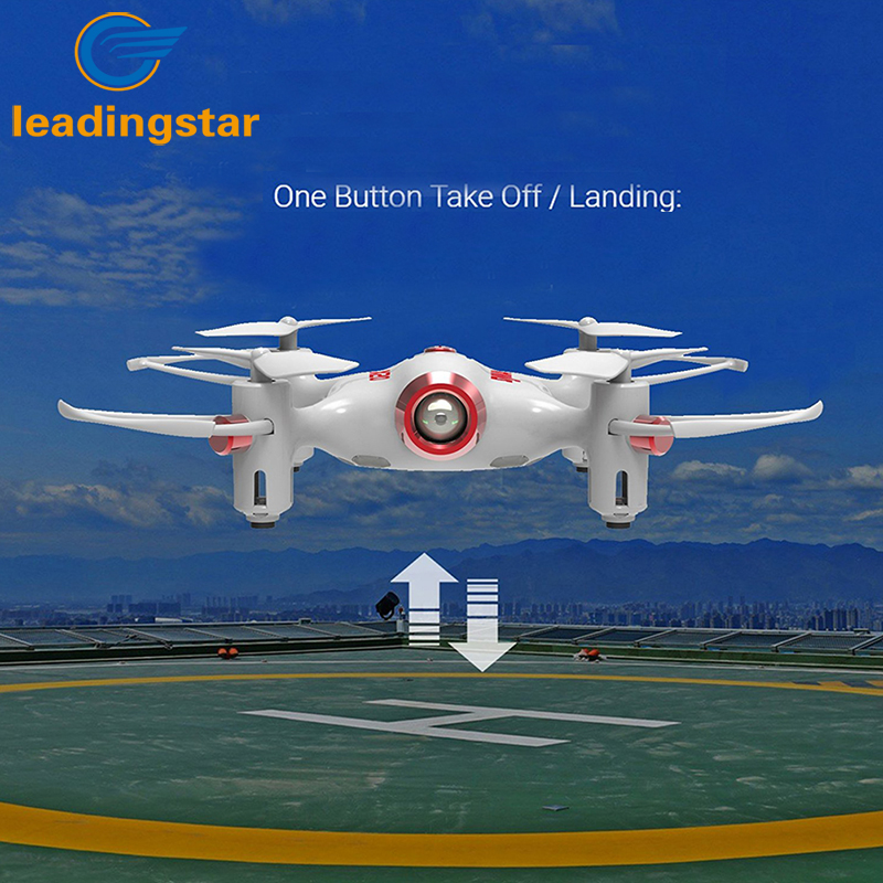 LeadingStar Newest RC Quacopter X20 2.4G 4CH 6-aixs Gyro Pocket Drone RTF with Headless one Key Return Mode 3D-flip Function Toy