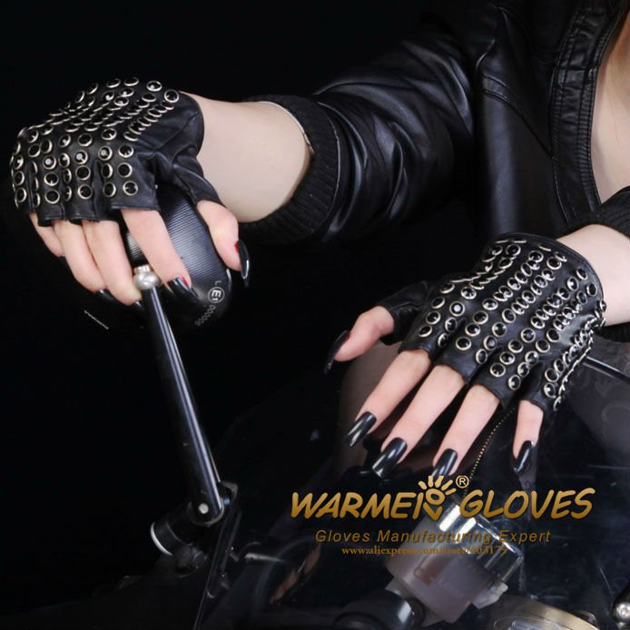 Gloves Wholesale Free Shipping Women\'s fashion leather fingerless ...
