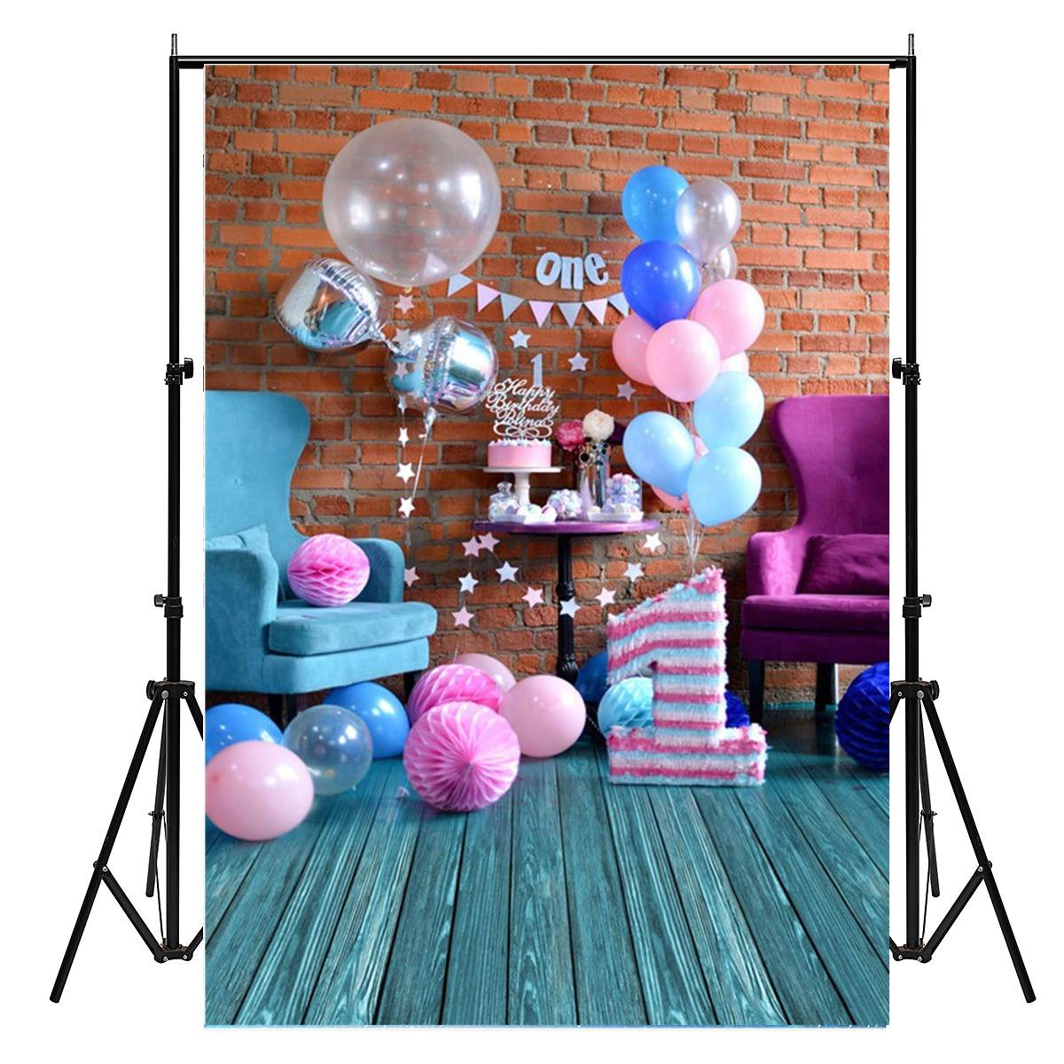 210X150cm Sweet Birthday Photography Background Studio Photo Prop Backdrop Decoration New Arrival fabric birthday party backdrop balloon and paper craft photography backdrop for photo studio photography background s 2132 c