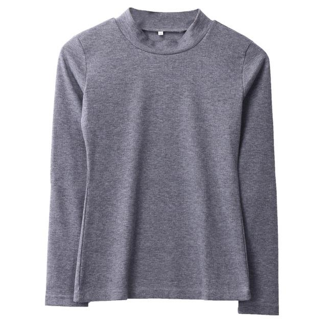 Grey Turtleneck Knitted Jumper