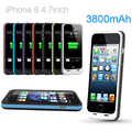 3800mAh External power bank case Power Charger pack backup battery Case For iphone 6 with USB cable line