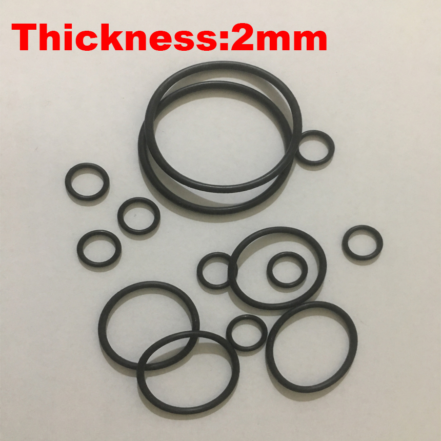 200pcs 21x2 21*2 22x2 22*2 23x2 23*2 24x2 24*2 OD*Thickness Black NBR Nitrile Chemigum Rubber O-Ring Washer Seal O Ring Gasket