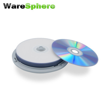 FREE SHIPPING Grade A BD-R SL 25GB 1x-10x Speed Inkjet Printable Blu-ray Disc – 10 Spindle