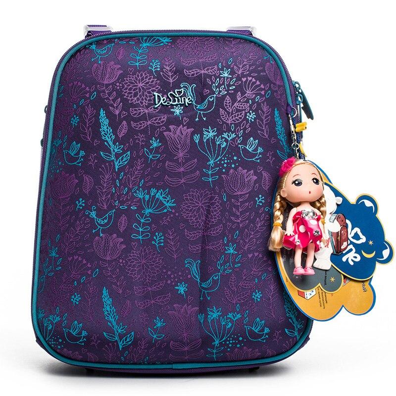 2dfad6a09d Cheap Delune nuevas mochilas escolares de múltiples capas para niñas niños  mochilas ortopédicas con patrón de