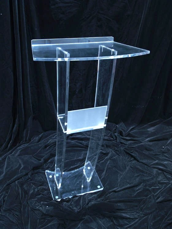 Tabletop Acrylic Podium Pulpit Portable Lectern Clear Conference School Podium