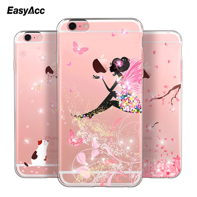 best cheap ed263 a04e7 US $1.96 69% OFF|Easyacc Luxury Rhinestone Glitter Cute Case For iphone 6  Case Crystal Diamond Soft Shell Silicone Cover For iphone 6s Plus-in ...