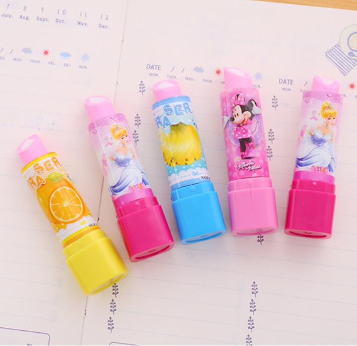 Lipstick Fruit Erasers Writing Drawing Rubber Pencil Eraser Cute Stationery For Kids Gifts School Supplies