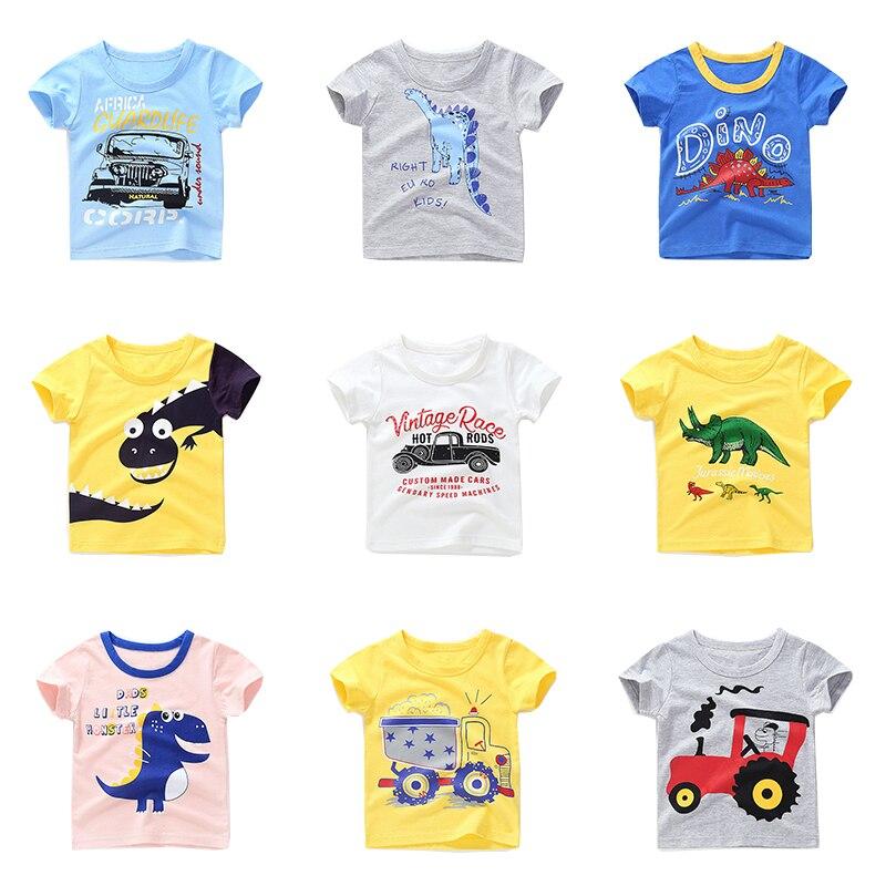 Neue Sommer Jungen Mädchen T Shirt Kinder Tees Junge Mädchen Kurzarm Shirts Baumwolle Kinder Tops Baby Kleidung 12m-8y Mode 100% Original