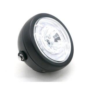 Image 4 - Faro delantero LED modificado para motocicleta, luz auxiliar de instalación sencilla, faro antiniebla Universal superbrillante