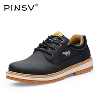 PINSV Genuine Leather Shoes Men Loafers Moccasins Men Causal Shoes Black Men Shoes Luxury Brand Flats