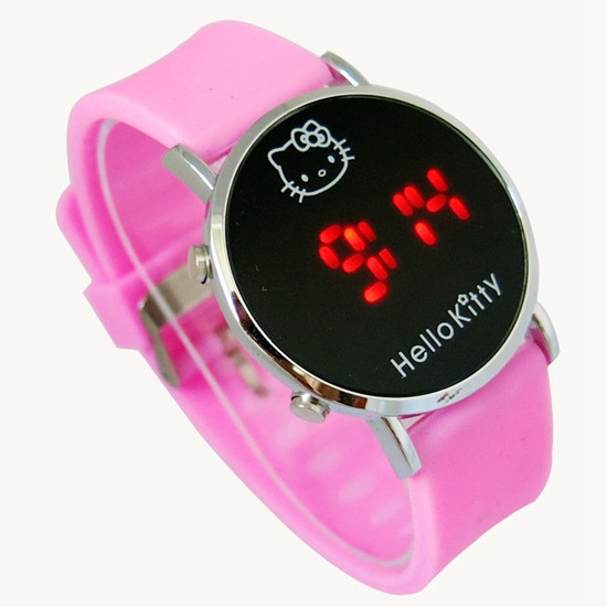 b2802cefc new 2015 reloj hello kitty watches for women cartoon watches for kids  children teenage girls watch led reloj mujer