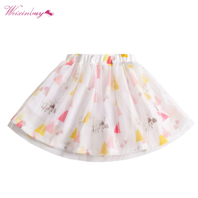 Baby Girls Princess Flowers Summer Mini Tutu Skirts Dance Party Short Children Clothing