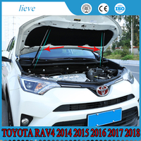 For Toyota RAV4 2014 2015 2016 2017 2018 Hydraulic Rod Strut Rod Telescopic Rod Engine Hood lift Support 2pcs Car Styling