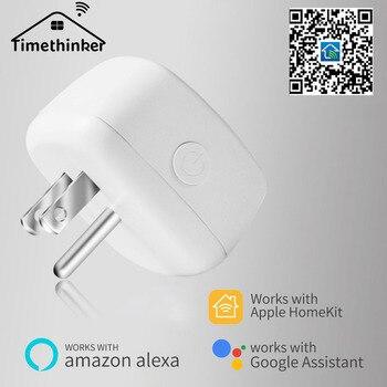 Timethinker умная Wi-Fi розетка для Apple Homekit US EU Plug для Alexa  Google Home Сири, голосовой пульт