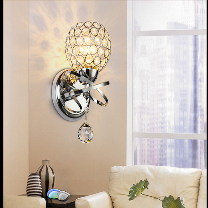 Living Room Crystal Wall Sconces : RODEX led crystal wall lamp Wall lights luminaria home lighting living room modern WALL light ...