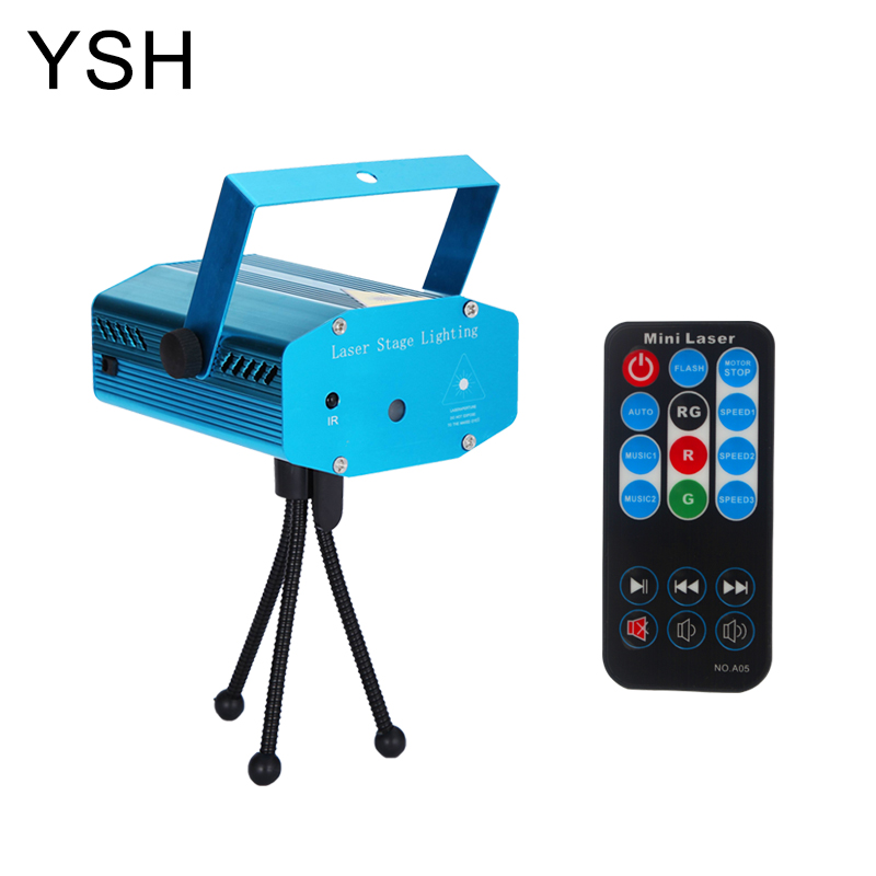 YSH Laser Disco Light 6 Patterns Star Shower Projector Mini DJ Party Lights Stage Light For Christmas Decoration Wedding Club