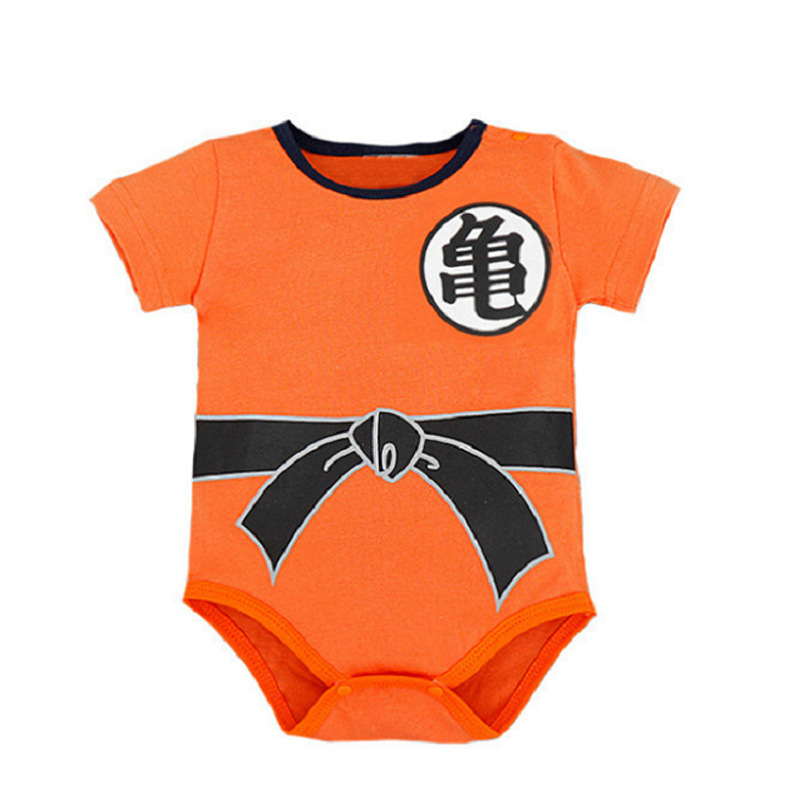 Dragon Ball Z Goku Romper Baby Infant Jumpsuit Overall Children Body Suit Baby Clothing Set Kid Cotton Clothes baby girl clothes sleeveless strap romper kids jumpsuit infant outfit cotton suit heart dot clothing set children costume sale