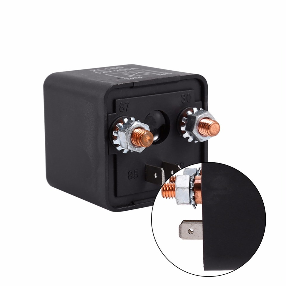 Basage 12-24 Voltios 200A Disyuntor Motor de Arrastre Auto Auto Marino Est/éReo Audio en L/íNea Portafusibles Inversor