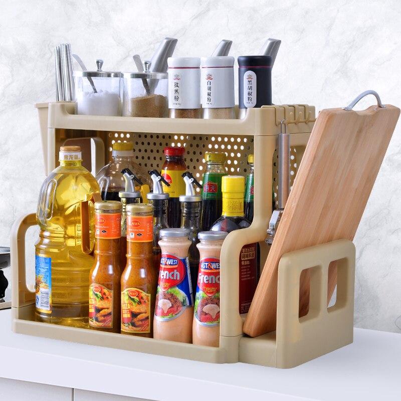Multi-storey Condiment Shelf, Kitchen Utensils, Small Department Stores, Storage S