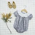 Mameluco del bebé del verano de las nuevas muchachas de algodón collar de la muñeca del mono hembra bebé ropa de la subida clothing triángulo kazajstán