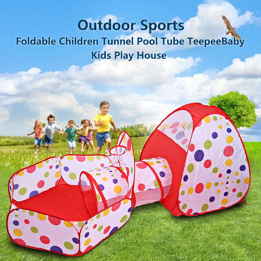 Baby Kids Play Tents Portable Foldable Pop Up Tunnel Basketball Game Tent Children Cubby Outdoor Sports Play House Hut Toys Tent 3 in 1 portable baby playpen children kids ball pool foldable pop up play tent tunnel play house hut indoor outdoor toys fancing