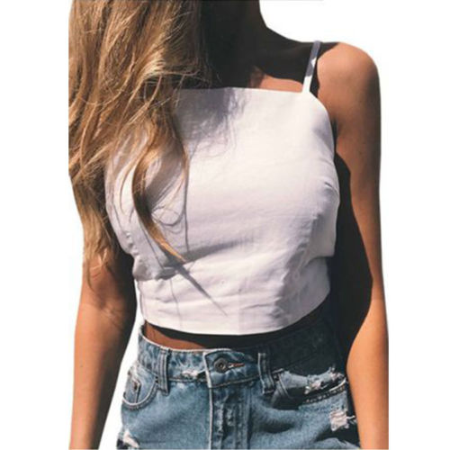 2d5ef1678bf01f Women Summer Vest Top Sleeveless Solid Casual Butterfly Knot Tank Tops T  Shirt Hot-in Camis from Women s Clothing on Aliexpress.com