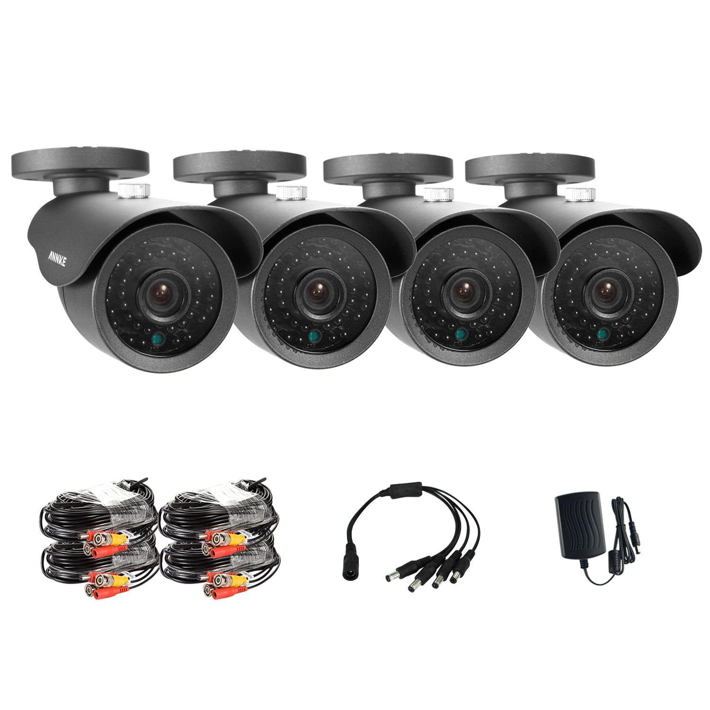 SANNCE 4CH 800TVL Bullet CCTV Caméra Suite 1.0MP Étanche Ir-cut Night Vision Caméra Pour Le Système De Surveillance Kit 81AA