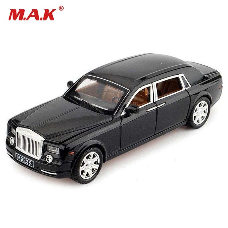 3 colors Kids toys 1:24 Scale Rolls-Royce Phantom W Sound&Light Pullback Model Diecast Car mini model car toys W SOUND LIGHT