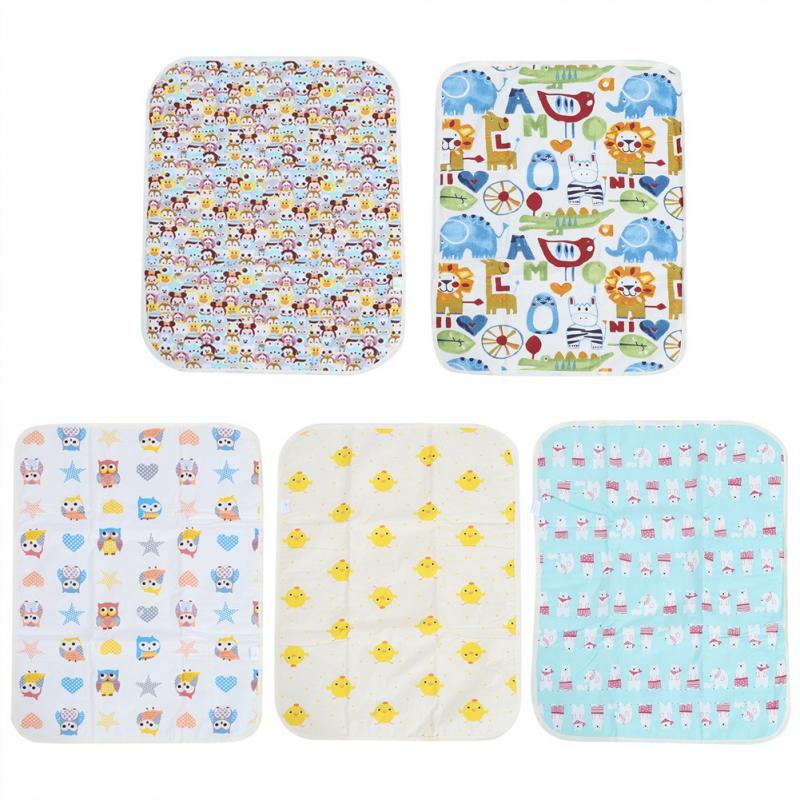 50x70cm Changing Pads Covers Cotton Reusable Waterproof Diaper Changing Table Mat Mattress For Newborns Infant 2018 High Quality