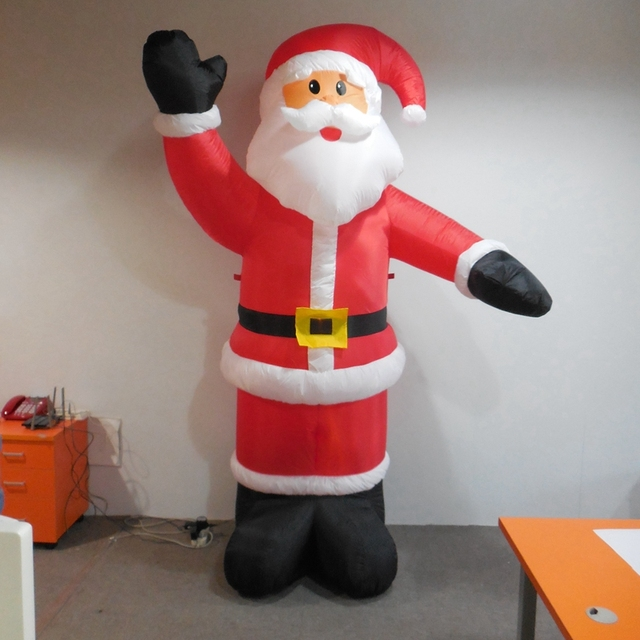 8ft/250cm Christmas LED Lighted Santa Claus Inflatable Santa Claus Mascot  Family Yard Art Decorations
