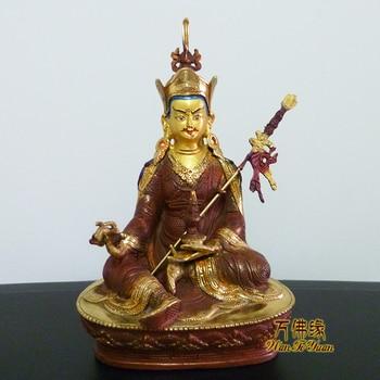 Collection # HOME OFFICE-efficacious Talisman House Protection # Tibetan Buddhism Padma Sambhava gilding brass Buddha statue