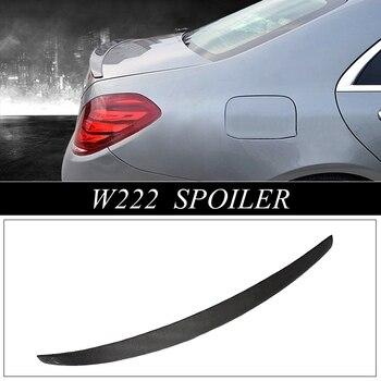 MONTFORD para Mercedes-Benz W222 Clase S S320 S400 S500 S600 Spoiler 2014 Auto 2015 de fibra de carbono de labio trasero ala de arranque del maletero del alerón