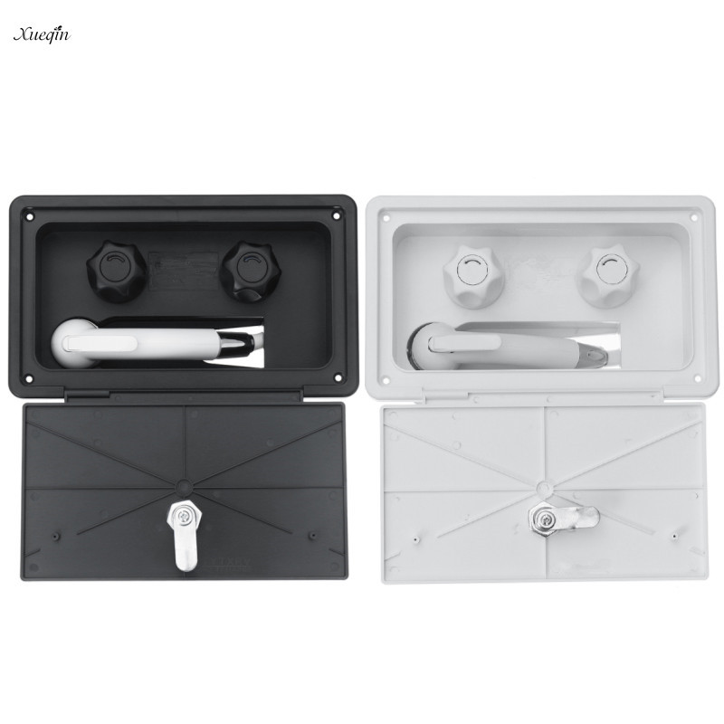 Xueqin Premintehdw RV Exterior Shower Box Kit Shower Faucet Shower Hot Cold Water Mixer Artic Latch For Caravan Trailer Artic цена