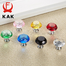 KAK Cabinet Handles Diamond Shape Crystal Glass Knobs 30mm 40mm Cupboard Pulls Drawer Knobs Kitchen Furniture Handle Hardware kak 20 40mm diamond shape design crystal glass knobs cupboard drawer pull kitchen cabinet door wardrobe handles hardware